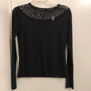 NWT Workshop NYC Black Long Sleeve Top Size Small